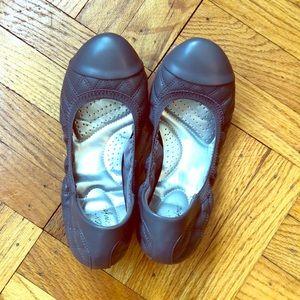 Dark gray ballet flats